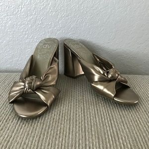 DV Rose Gold Knotted Slide Mules
